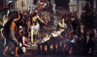"""""""Turn me over.  I am done on this side.""""  Feast of Saint Lawrence, 10th August"""