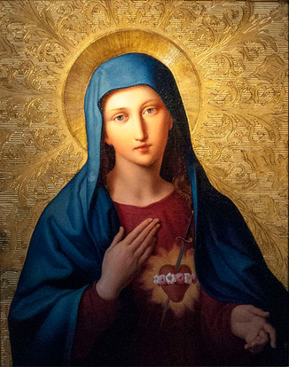 August is dedicated to The Immaculate Heart of Mary