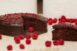 Real Patisserie English cakes - Chocolate & raspberry cake