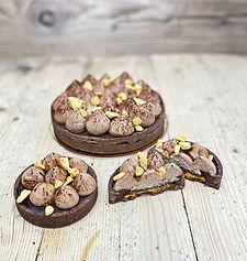 Chocolate & honeycomb tart brighton hove