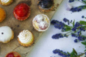 Real Patisserie Party Food - mini tarts & petit fours