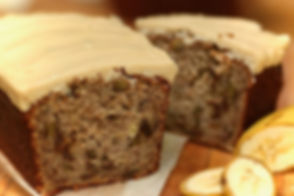 Real Patisserie English cakes - Caramel banana loaf