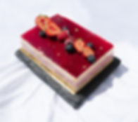 Real Patisserie - Raspberry passion fruit mousse cake