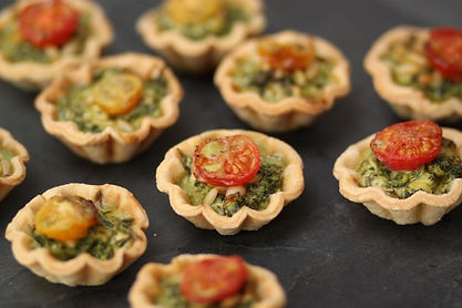 Real Patisserie Party Food - Mini quiches