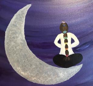Deanna Meditating on the Moon