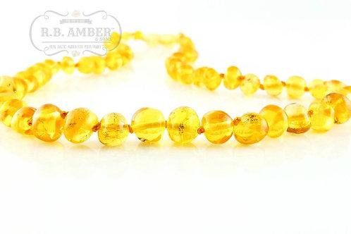 Polished Lemon Baroque Adult Necklace