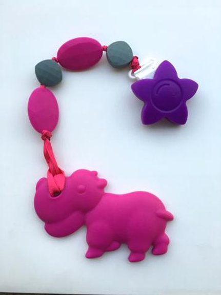 SillyMunk Hippo Teething Clip