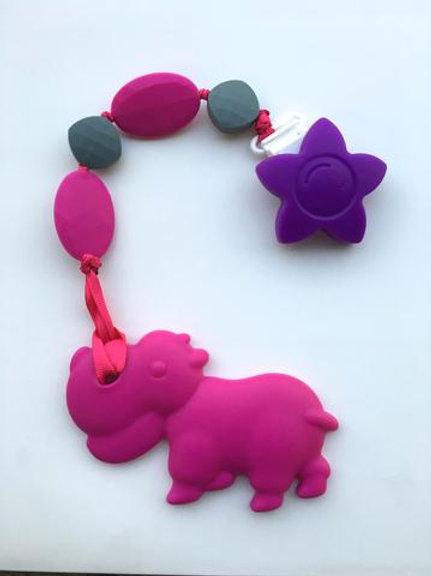 SillyMunk Elephant Teething Clip