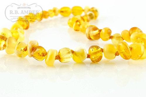 Child Necklace- Butter/Lemon Baroque - Screw Clasp