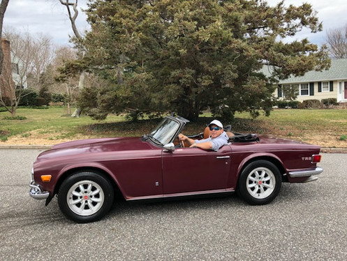 All Original Clic Triumph Tr6 With A Brand New Professional Paint In The Damson Burgundy Color No Bondo Anyplace Only 66k Miles
