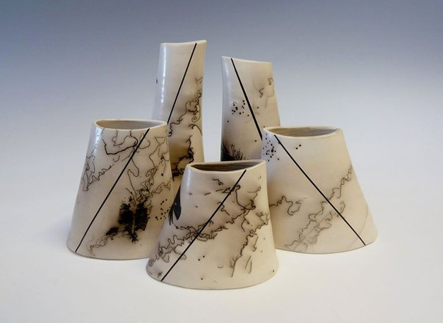 Group of altered vessels