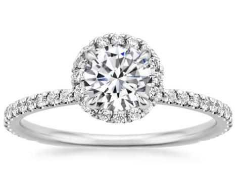 Round with circle of diamonds