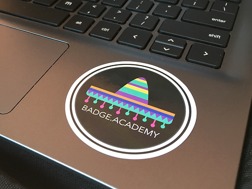 Badge.Academy - Set of 5 Stickers