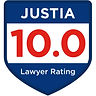 Justia Badge 10.0 Lawyer Rating Carolyn Bone Summerville Charleston Divorce Lawyer, blue and red badge
