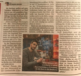 Article on smoker protection law in BZ