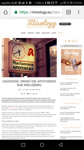 Article in Mixology