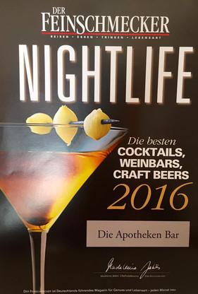 Best Cocktails 2016/ Feinschmecker