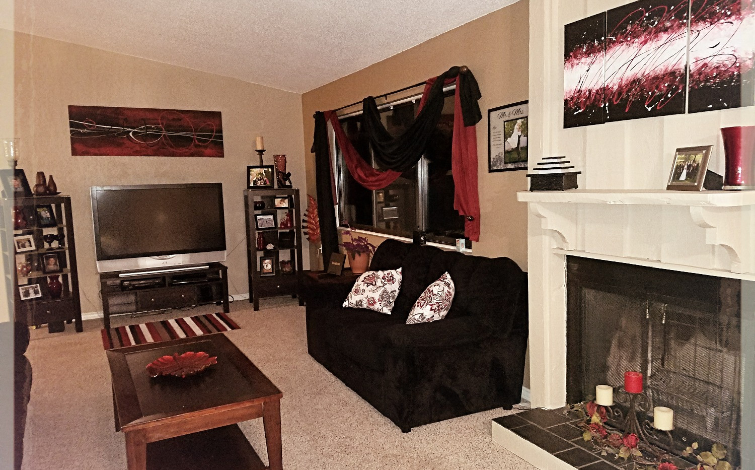 Black and Red Living Room