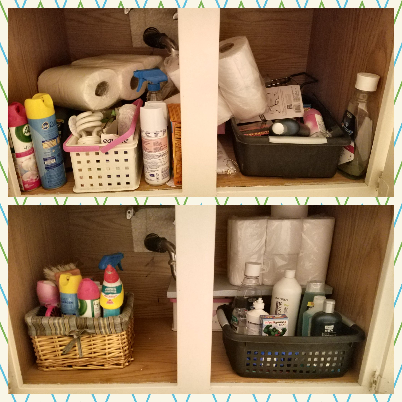 Bathroom Cabinet Declutter