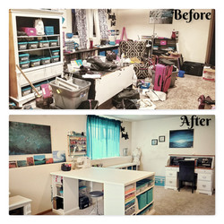 Before and After Craft organizing