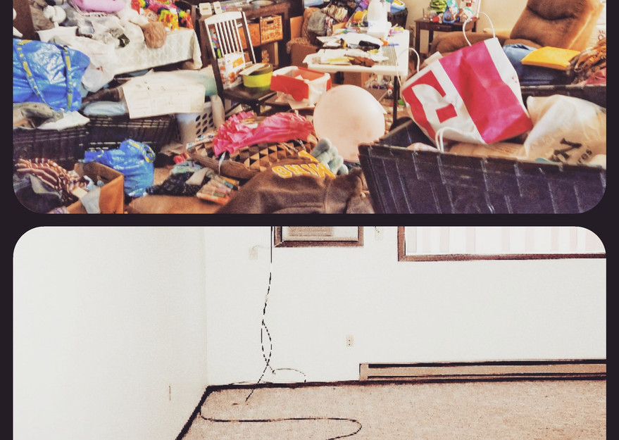 Before and after organizing photos, hoarding, clean out services, south dakota, home organizing