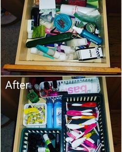 Bathroom Drawer Declutter