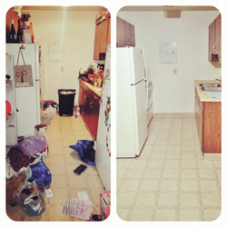 Before and after declutter