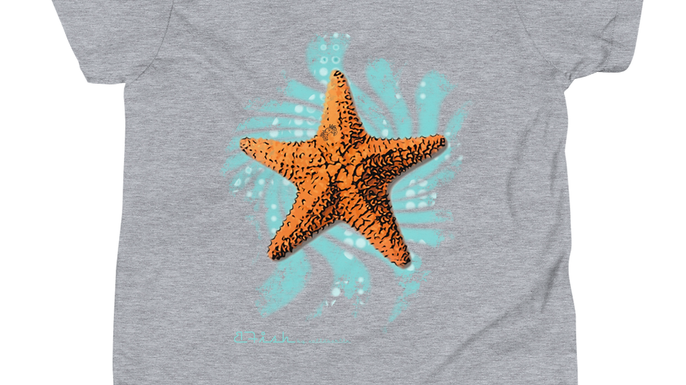 B-Fish Seastar Blue Child Kurzarm T-Shirt