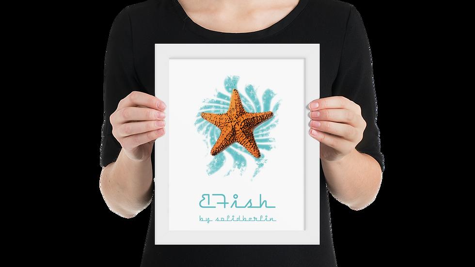 B-Fish gerahmtes Poster