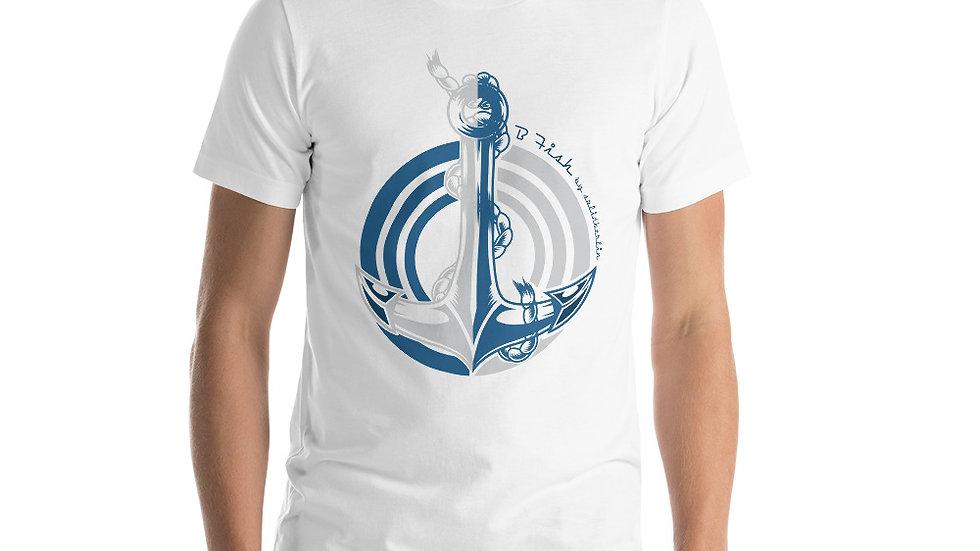 B-Fish Anchor point Kurzärmeliges Unisex-T-Shirt