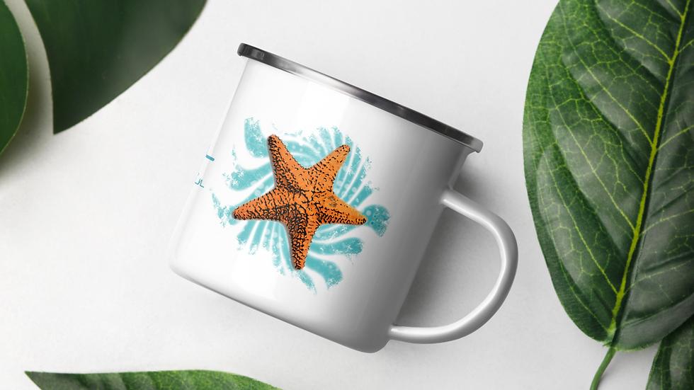 B-Fish Starfish Emaille-Tasse