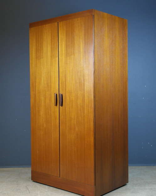 Vintage E Gomme G Plan Double Door Ed Wardrobe Beautiful In Luxurious Teak With Rosewood Handles Very Practical And Stylish Ready To
