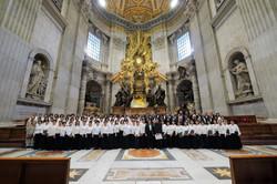 サンピエトロ大聖堂ミサ演奏終了後