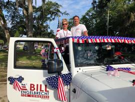 Bill & Tanya at the Fourth of July parade