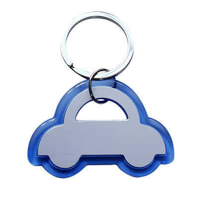 Blue Edge Car Keychain