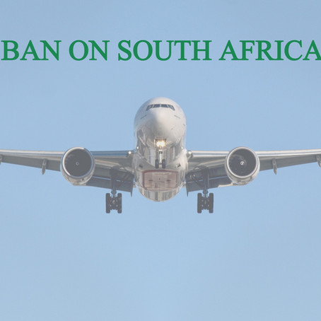 TRAVEL BAN ON SOUTH AFRICA LIFTED!