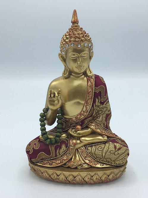 Gold Buddha with Mala