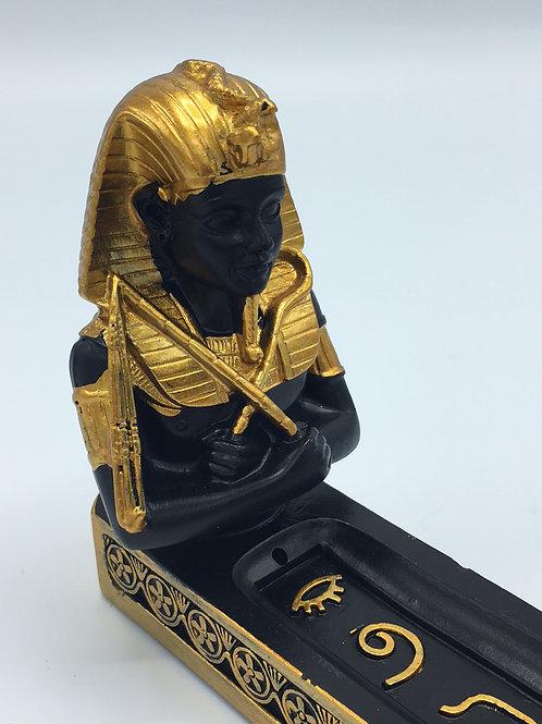 King Tut Egyptian Pharaoh Incense Burner