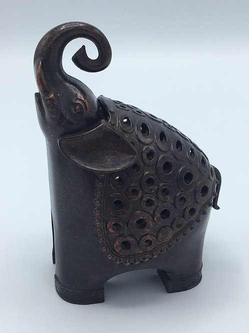 Small Bronze Elephant Incense Burner