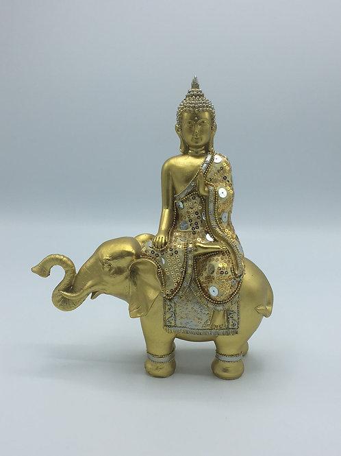 Buddha Seated On Elephant
