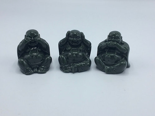 See No Hear No Speak No Evil Happy Buddha Statue Set