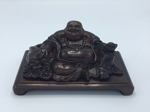 Bronze Happy Buddha Incense Burner