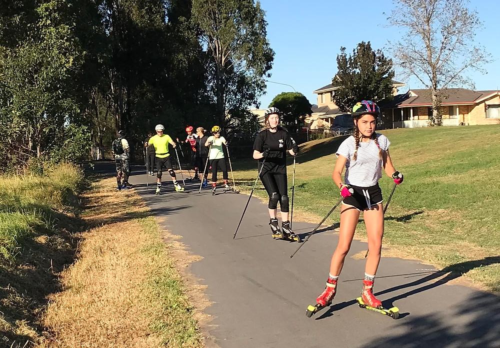 Rollerskiing in Western Sydney Parklands