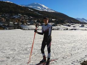 AUS Biathlete joins Local School in Livigno