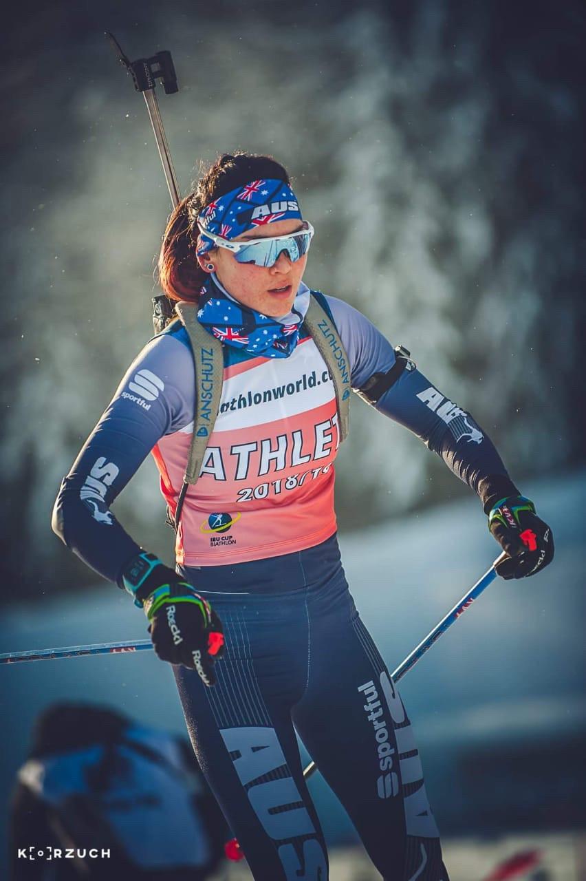 Jill Colebourn On Course, skiing Biathlon
