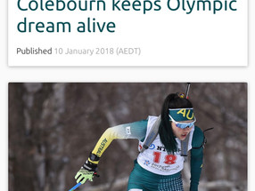 Australian Olympic Committee article on Colebourn