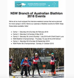 Australian Biathlon NSW Newsletter December 2017