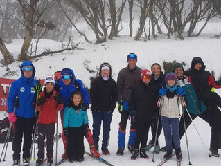Biathletes At Falls Creek