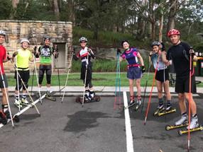 Rollerski training - Sydney 25 March 2018