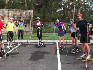Rollerski training - Sydney 25 March 2018